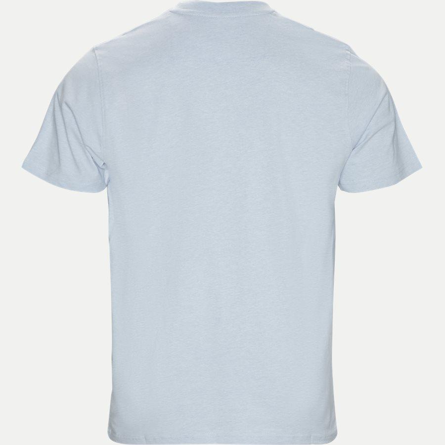 WAINE LOGO - Wayne Tee KM  - T-shirts - Regular - L.BLÅ MELANGE - 2